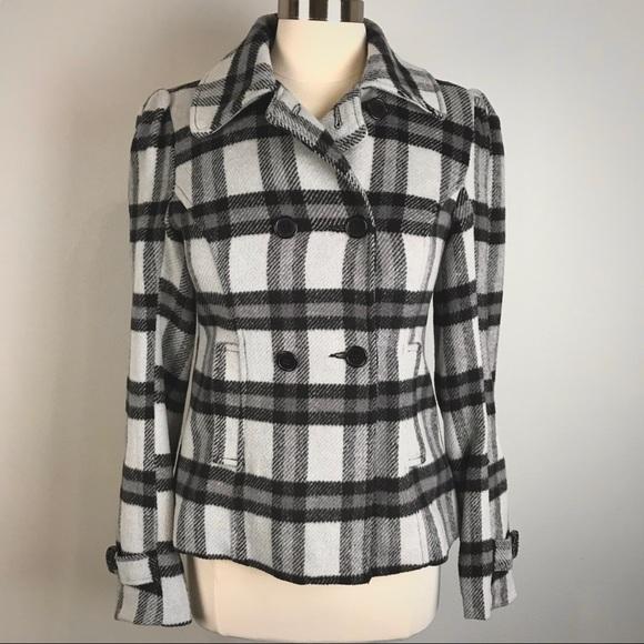 Sound & Matter Jackets & Blazers - Sound & Matter black and light gray plaid jacket